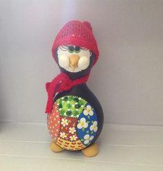 Cabaça - Pingüim com touca vermelha - CAB 263