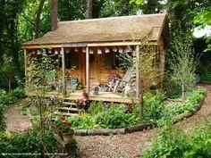 Cabin/Summerhouse from Back garden owned by John & Rebecca Bunting |  #shedoftheyear @buntingrebecca1