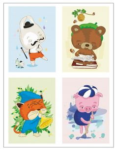 Artists postcard set via Terese Bast Papershop. Click on the image to see more!