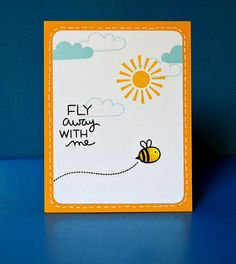 Lawn Fawn - Hello Sunshine _ card by Lynnette for Lawn Fawn Design Team