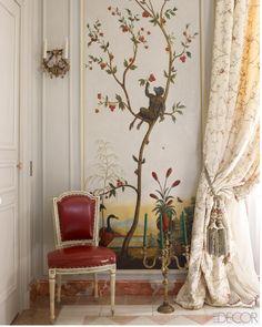 18th-century estate in Bordeaux, undergoes a dazzling transformation by Paris-based designer Michael Coorengel.