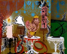 Lari Pittman  American; b. Los Angeles, CA, 1952; lives and works in Los Angeles, CA  © Lari Pittman  Reverential and Needy  1991  acrylic and enamel on mahogany  82 x 66 in. (208.28 x 167.64 cm)