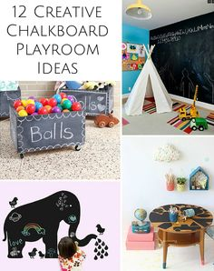 12 Creative Chalkboard Ideas for the Playroom.