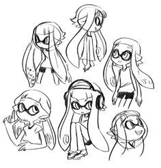 how to draw splatoon characters