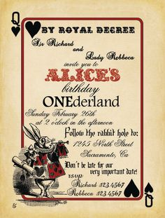 Alice In Onederland Invitations as beautiful invitations layout