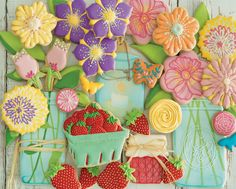 + images about Cookies...Floral on Pinterest | Flower cookies, Cookie ...