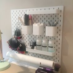 Skadis IKEA hack manicure station nail desk Source by