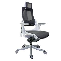 Wau Mesh Ergonomic Chair with Headrest Black Fabric Seat Back/Black Frame Toddler Table And Chairs, Shabby Chic Table And Chairs, High Back Office Chair, Home Office Chairs, Office Furniture, Best Computer Chairs, Folding Camping Chairs, Mesh Chair, Ergonomic Office Chair