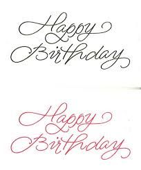 Image result for happy birthday cursive