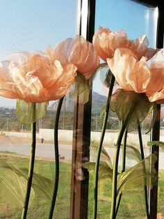 Giant Paper Flowers, Big Flowers, Wedding Flowers, Organza Flowers, Fabric Flowers, Flower Decorations, Wedding Decorations, Foam Roses, Order Flowers