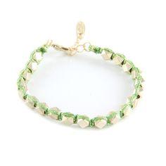 Sparkle Stackable Bracelet in Metallic Green #ettika #boho #jewelry #gypsy #hippie