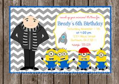PRINTABLE Despicable Me  Minions Birthday by AmistasHandmade, $8.00