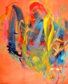 "Saatchi Art Artist Sandy Welch; Painting, ""OPPOSITES ATTRACT 111"" #art"