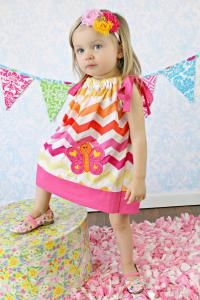 Bright Butterfly Chevron Pillowcase Dress $25.00 Buy and Sell Crafts On Line | Handmade Crafts to Sell? Free Posting