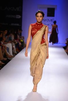 Simply loved the designs showcased by Sonaakshi Raj at LFW 2014