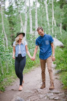 Casual mountain engagement session on the blog
