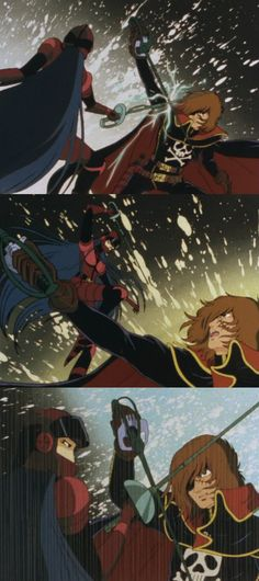 Harlock duels the traitor Lady Leotard - Endless Orbit SSX
