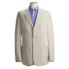 Bills Khakis Pinpoint Seersucker Sport Coat (For Men))