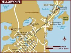 Yellowknife my home North of 60 Northwest Territories Map Canada