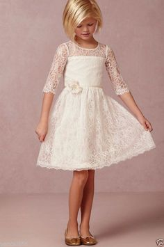 NEW Lace Baby Princess Bridesmaid Flower Girl Dresses Wedding Party Dresses #Dress