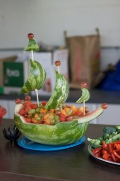pirate party watermelon by angelia
