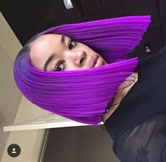 Bob Lace Wigs African American Human Hair Lace Front Wigs for Black Women!Do you want get same hairstyles? Black Girls Hairstyles, Trendy Hairstyles, Weave Hairstyles, Baddie Hairstyles, Love Hair, Gorgeous Hair, Violett Hair, The Maxx, Natural Hair Styles