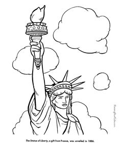 The Statue of Liberty Facts, Pictures, Poem, Quote and coloring pages
