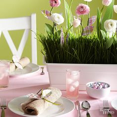Easy Easter Centerpieces And Table Settings From