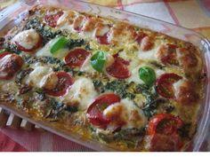 Zucchini-Hackauflauf mit Tomaten