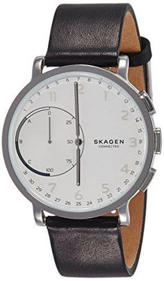 Skagen Hagen Connected Black Leather Hybrid Smartwatch