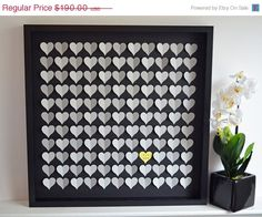 ON SALE Wedding Guestbook Alternative 3D by HeartworkMemories, $152.00