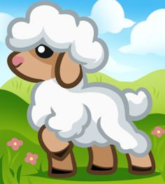 How to Draw a Lamb for Kids, Step by Step, Animals For Kids, For Kids, FREE Online Drawing Tutorial, Added by Dawn, May 23, 2012, 11:46:14 am