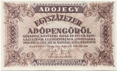 100000 Adópengö 1946 (Egyszázezer