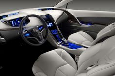 The new 2014 Cadillac ELR Interior;  an electric hybrid