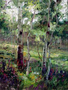 Robert Moore   Summer, oil, 40 x 30.