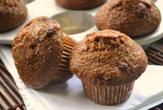 Bran muffin recipe. Used All-Bran cereal, reduced brown sugar to 1/2 cup, added 1 t cinnamon.