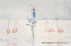Cómo pintar una bailarina con flamingos a la acuarela - Surrealista #arte #pintura #ArteDivierte #bailarina #flamingos #acuarela #tutorial #Patreon #Tutto3 #artistleonardo #LeonardoPereznieto Haz clíck aquí para ver mi libro: http://www.artistleonardo.com/#!ebooks/cwpc
