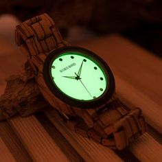 Luminous Face Wooden Watch