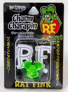 RAT FINK Green Ver. Charm Charapin for Smart Phones for Earphone Jack