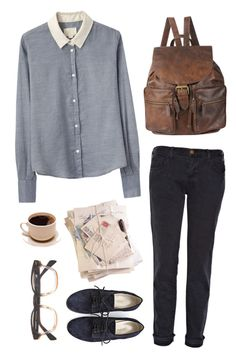 """Yet Again - Grizzly Bear"" by rebeccarobert ❤ liked on Polyvore featuring Current/Elliott, Band of Outsiders, Forever 21 and A.P.C."