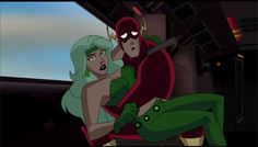 Fire and Flash Justice League Unlimited