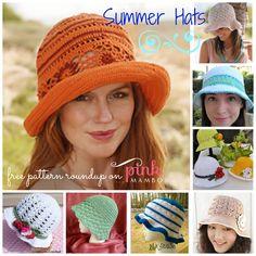 Crochet Summer Hats 8 Free Patterns!