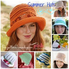 pretty+protected+crochet | Crochet one of these pretty sun hats to protect your skin from the sun ...