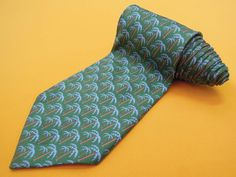 Gucci Tie Pure Silk Palm Tree Repeat Pattern Green Vintage Designer Dress Necktie Made In Italy by InPersona on Etsy