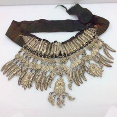 Antique Yemen Wedding Head Piece. Bedouin Berber 900 Silver Bridal Headdress. Hallmarked. Ethnic Filigree Hamsa Hands. Antique Jewelry by MercyMadge on Etsy
