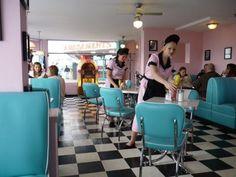 Bobby Jo's SouthEnd. 50's diner with a veggie/vegan menu, droooool x
