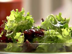 Green Salad and Napa Wine Vinaigrette from FoodNetwork.com