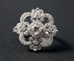 Hey, I found this really awesome Etsy listing at https://www.etsy.com/listing/90250131/duchess-diamond-engagement-ring-or-right