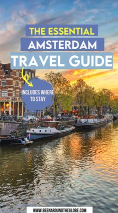 Th essential Amsterdam travel guide. All you need to know if you're going to Amsterdam! Things to do in Amsterdam | Amsterdam travel | Places to visit in Amsterdam | Top photo spots in Amsterdam | Amsterdam city guide | Canals in Amsterdam Photos Amsterdam, Tour En Amsterdam, 3 Days In Amsterdam, Amsterdam Travel Guide, Utrecht, Rotterdam, Places To Travel, Places To See, Netherlands