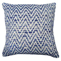 Woven Chevron Cushion Cover, Navy Blue